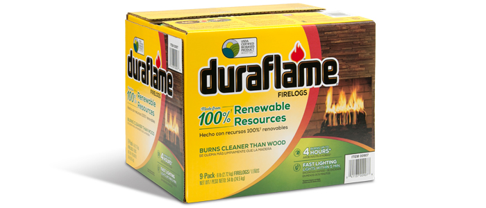 Duraflame 6lb 100% Renewable Firelogs