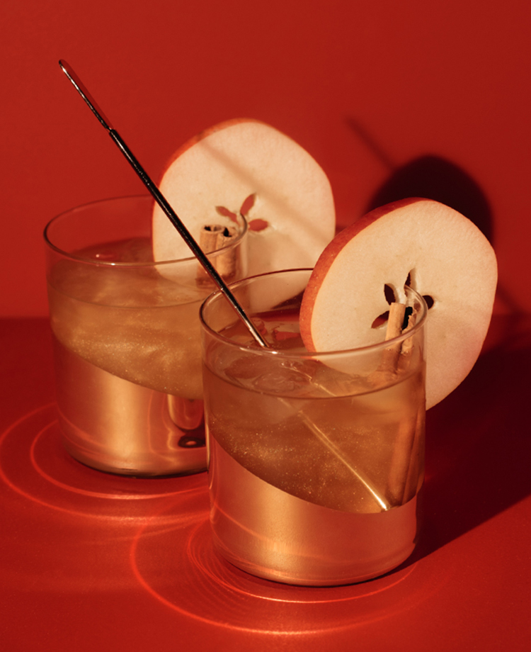 Shimmery Cider Cocktail
