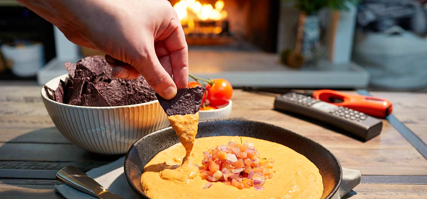 Fireside Snacks: Spicy Queso