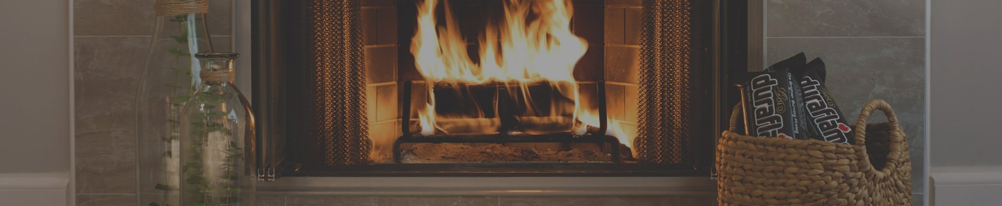 Fire burning brightly in the hearth