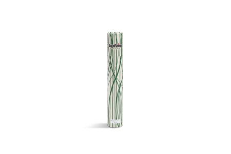DURAFLAME® LONG-STEM DÉCOR MATCHES vertical standing cylinder with green vertical waving line design