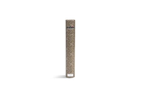 DURAFLAME® LONG-STEM DÉCOR MATCHES vertical standing cylinder with mink grey floral design