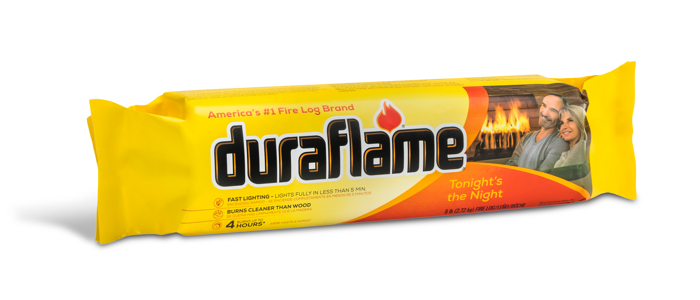 duraflame® 6lb firelog single log in wrapper