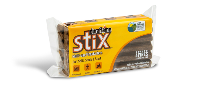 Package of 12 STIX® FIRESTARTERS packaging
