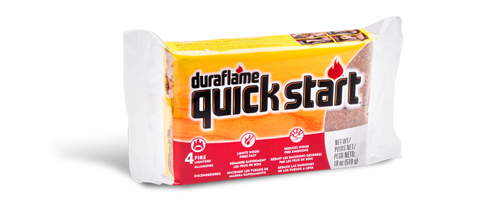 Package of 4 QUICK START® FIRELIGHTERS packaging