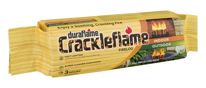 CRACKLEFLAME® Single FIRELOG packaging