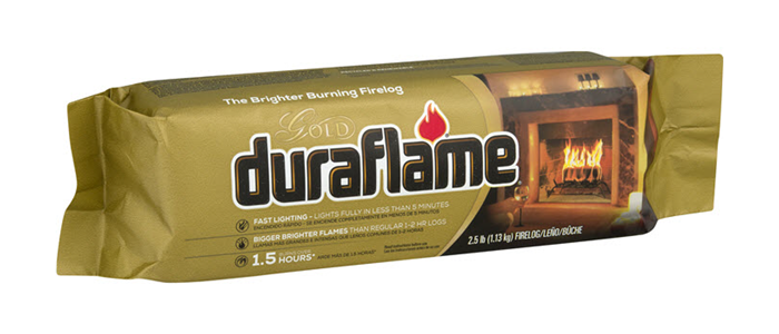 DURAFLAME® 2.5LB GOLD Single FIRELOG packaging