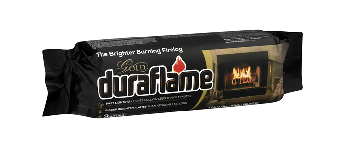 DURAFLAME® 4.5LB GOLD Single FIRELOG packaging